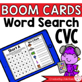 CVC Word Search Boom Cards Digital Distance Learning