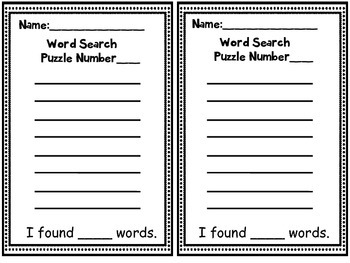 CVC Word Search Puzzles