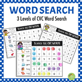 CVC Word Search - Three Levels