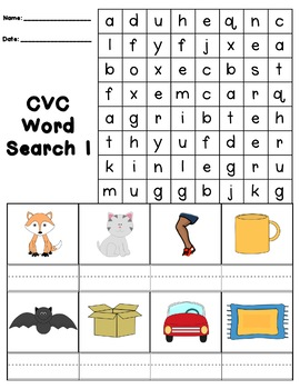 CVC Word Searches