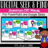 CVC Word Seek & Find Digital Game: Snowmen