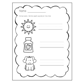 CVC Word Segmenting and Printing Practice