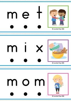 CVC Word Slider Cards