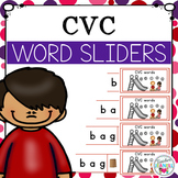 CVC Segmenting and Blending Cards - Word Sliders