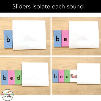 CVC Word Sliders: decoding CVC words