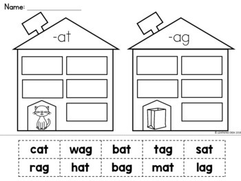 CVC Worksheets (Word Sort)
