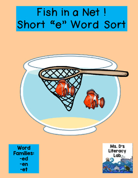 Short E Word Families (Fishes)