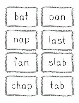 CVC Word Sort ~ Short Vowel Word Sort / Flashcards