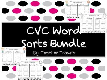 CVC Word Sorts Bundle