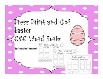 CVC Word Sorts - Easter
