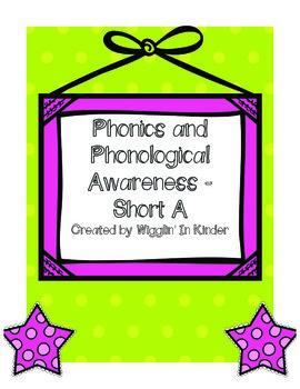 CVC Word Sounds -  Phonics & PA Practice Set {Short A}