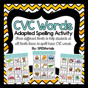 CVC Word Spelling Adapted Activity