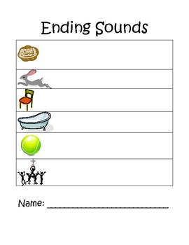 CVC Word Spelling & Ending Sound Page 2