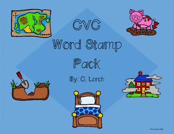 CVC Word Stamp Short Vowel Pack