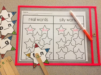 CVC Word Stars- Real or Nonsense Words?