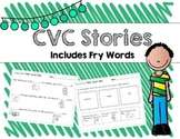 CVC Word Stories and Activities! Includes Fry Words!