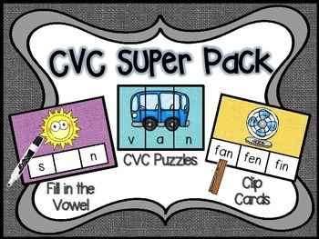 CVC Word Super Pack!