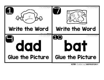 CVC Word Task Card Scoot! Games