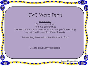 CVC Word Tent Bundle