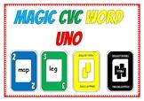 CVC Word Uno Like Card Game