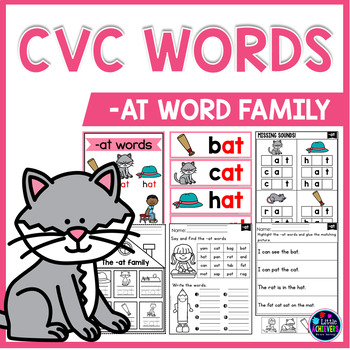 CVC Worksheets and Activities FREEBIE