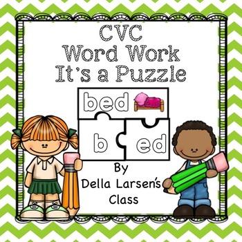 Literacy Center Word Work for CVC and Phonics Fluency