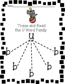 CVC Word Work with Short U Word Families