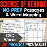 Short Vowel Word Work Activities for CVC Words