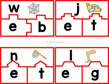 CVC Word Work Center Activities and Worksheets