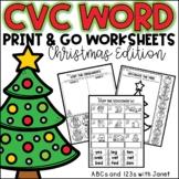CVC Word Work {Christmas edition}