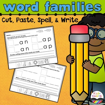 Word Families Word Work