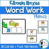 FREEBIE! Word Work: CVC Elkonin Boxes! Phoneme segmentation. Literacy Centers