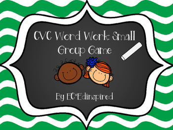 CVC Word Work Matching Freebie