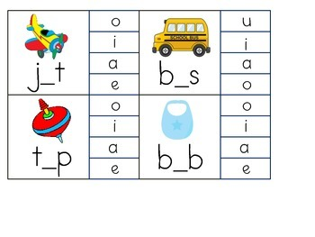 CVC Word Work (Middle Sounds)