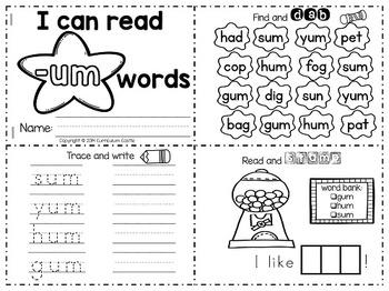 CVC Word Families {Activity Mini Books}
