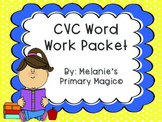 CVC Word Work Packet