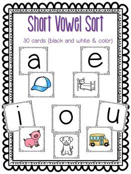 CVC Word Work: Picture Sort