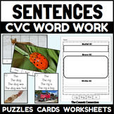 CVC Word Work Sentences