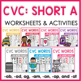 CVC Words Worksheets and Activities: Short A Word Work