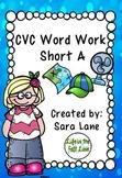 CVC Word Work Short A
