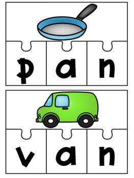 CVC Word Work {Short A Puzzles}