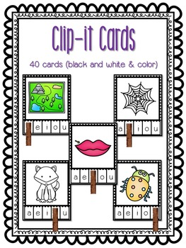 CVC Word Work: Clip Cards