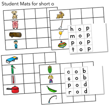 CVC Word Work - Short o Words