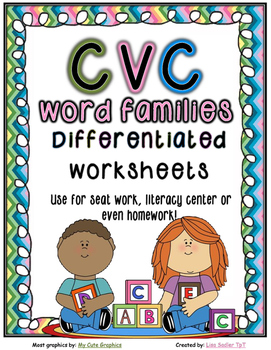 CVC Word Work - Sort/Write/Read