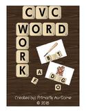 CVC Word Work-  Velcro Task