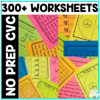 CVC Word Work NO PREP