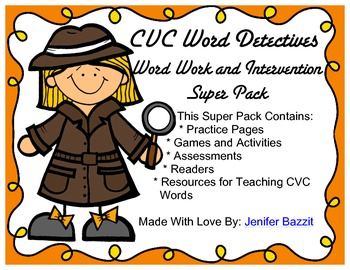 CVC Word Work and Intervention Super Pack