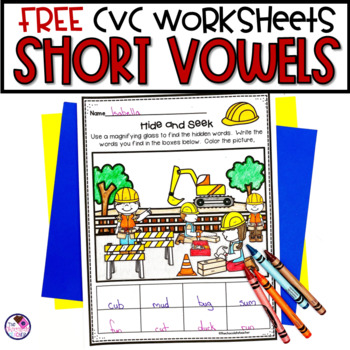FREE CVC Worksheet Sampler
