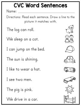 CVC Word Worksheets by Amanda's Little Learners | TpT