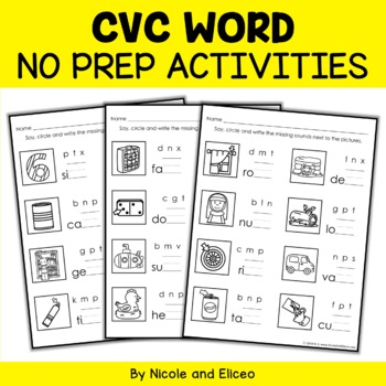 CVC Word Worksheets 3